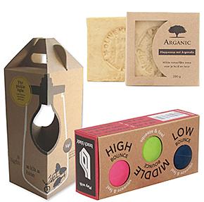 Voorbeeld van milieuvriendelijke verpakkingen, doos met venster, doos met uitsparing