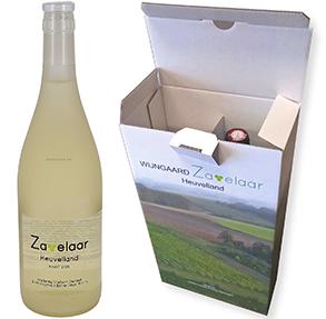 Voorbeeld van milieuvriendelijke verpakkingen, verzenddoos wijn, doos voor wijn, doos voor 2 flessen wijn.jpg